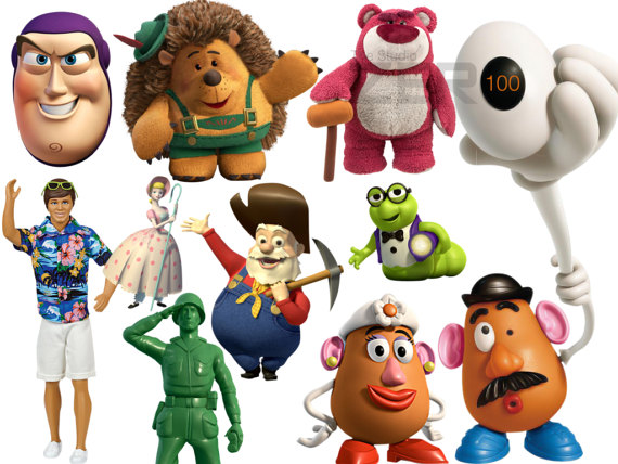 100 Toy Story Clipart, 300DPI PNG, Instant Download, Printable Iron.