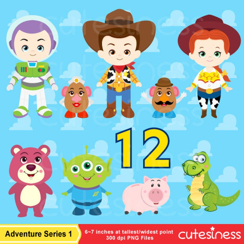 Little Toy Digital Clipart, Toy Story Clipart, Toy Clipart, Toy Clip Art,  Cowboy Clipart, Cowgirl Clipart.