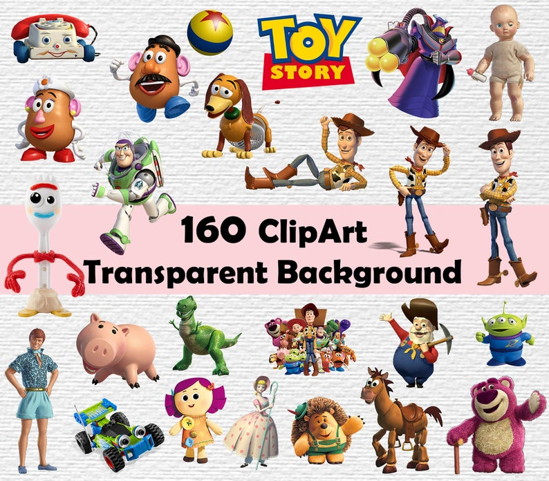 Toy Story Clipart, Toy Story PNG files, Toy Story 300dpi, instant  download,Toy Story Clip art, Toy story transparent background, woody,buzz.