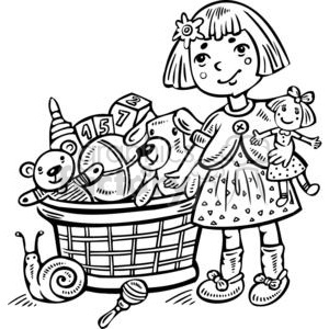 Toys black and white clipart 2 » Clipart Station.