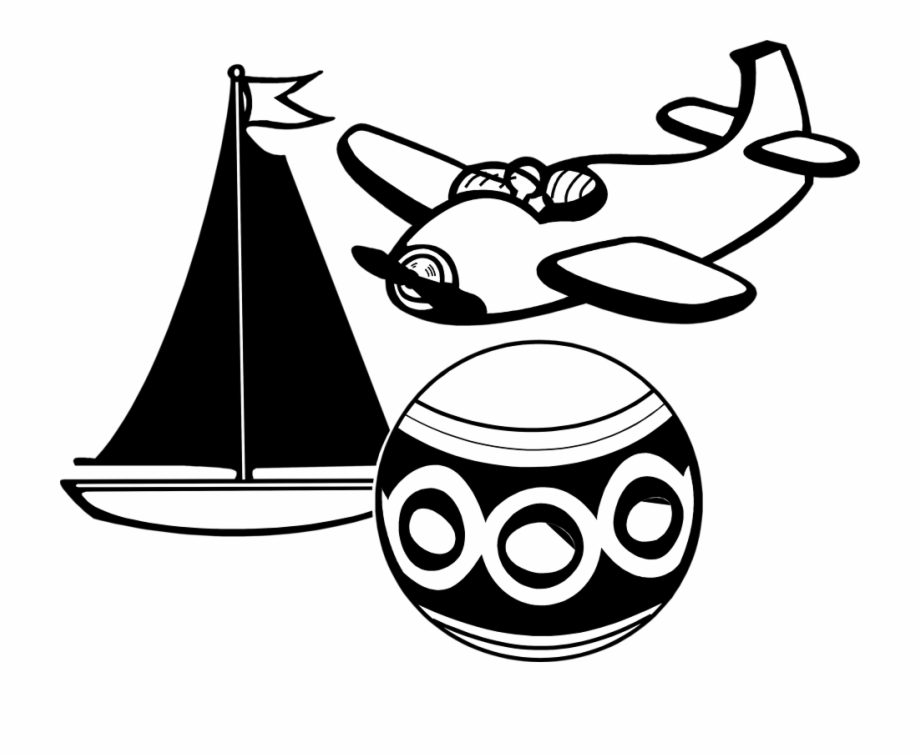 Illustration Of Various Toys Clip Art Toys Black.