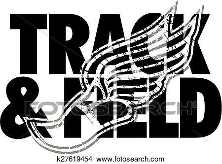 Track & field design Clipart.