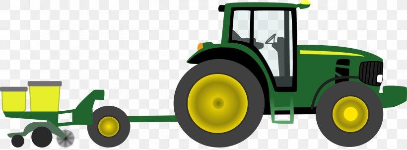 John Deere Tractor Farm Clip Art, PNG, 2400x886px, John.