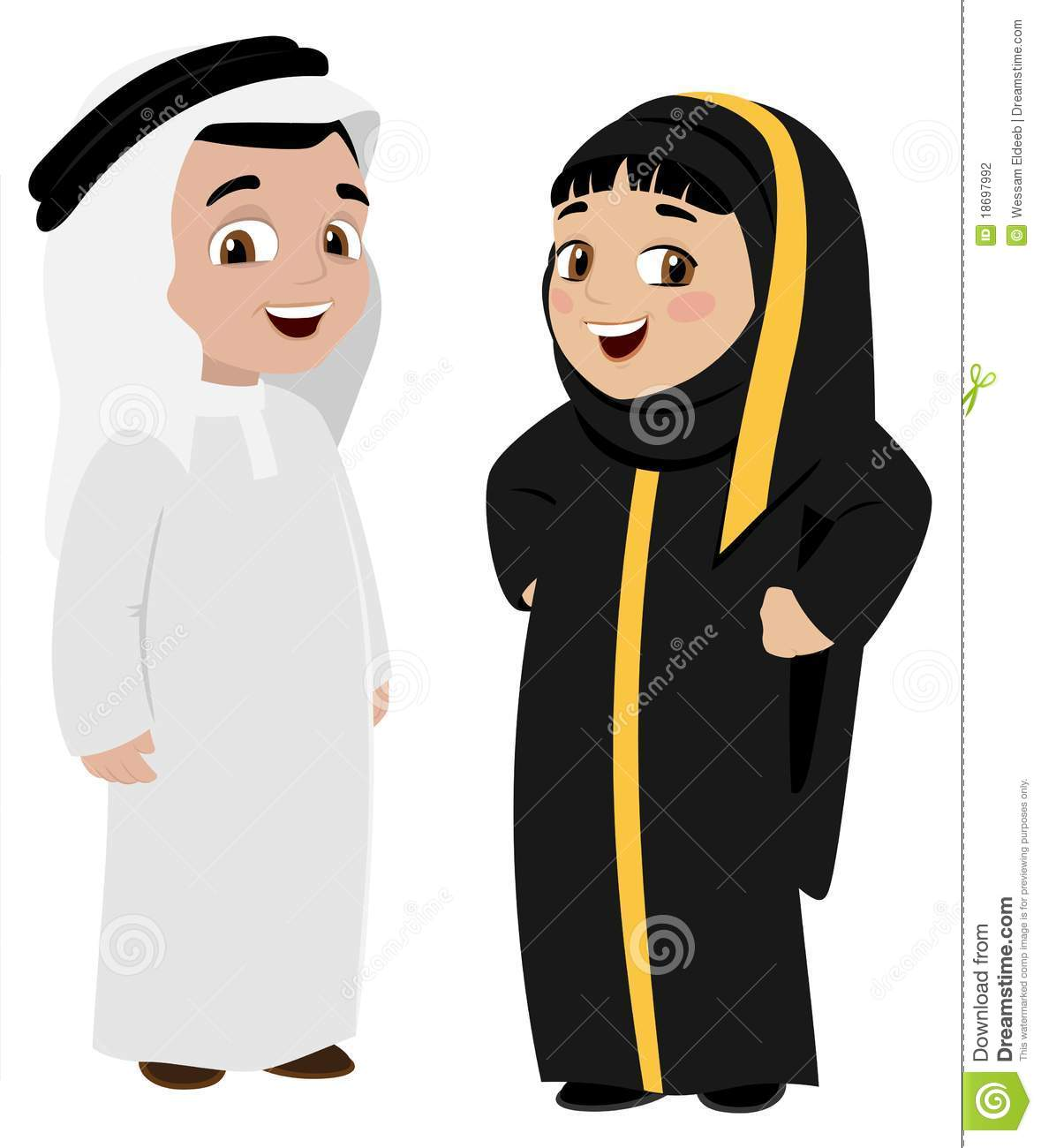 Traditional Dress Of Uae Clipart.