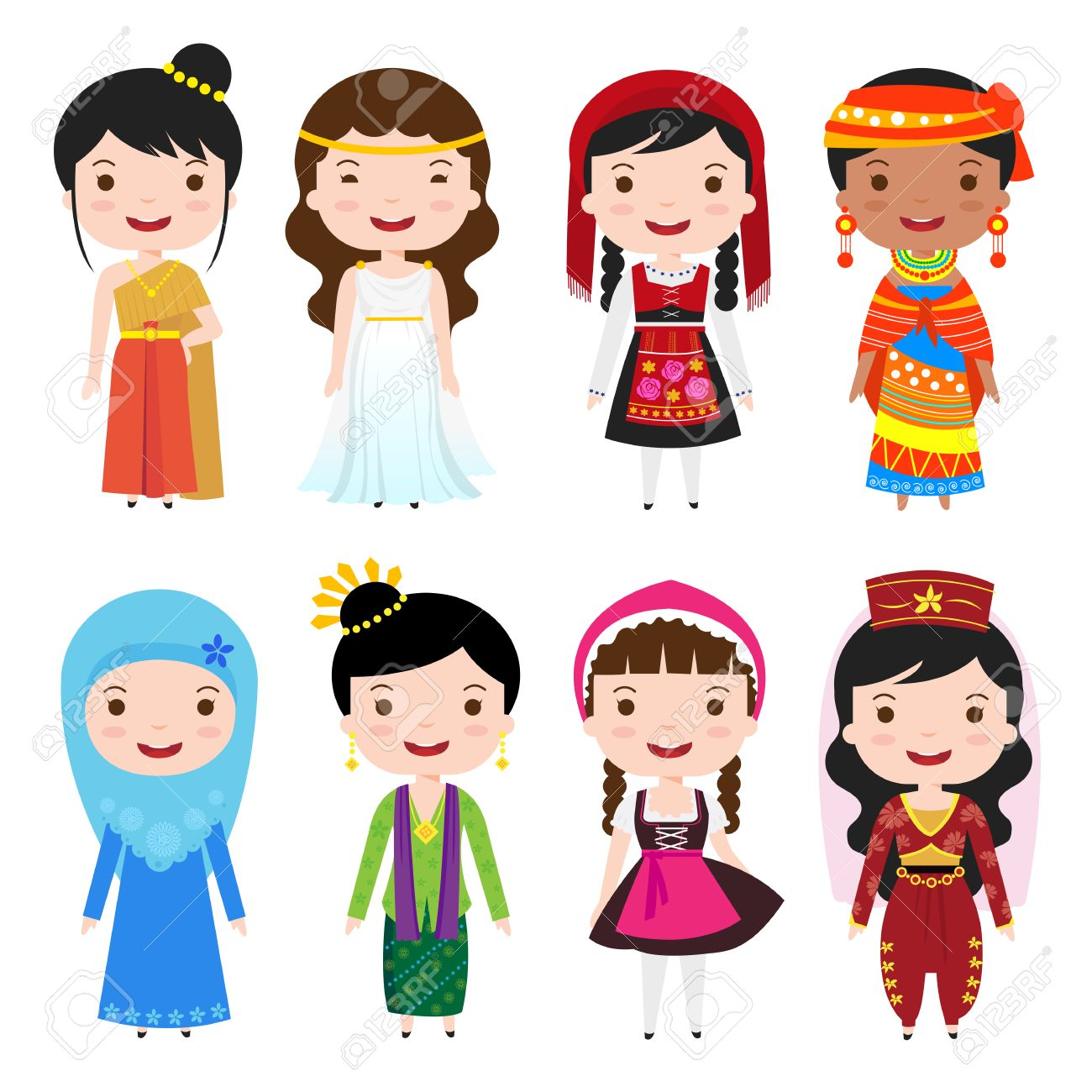 Traditional Clothing Clipart.