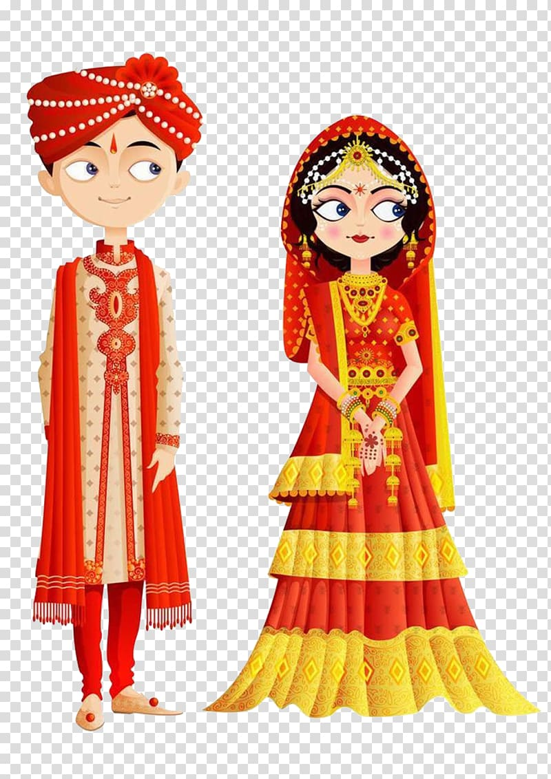 India Wedding invitation Bride , Traditional Indian Wedding.
