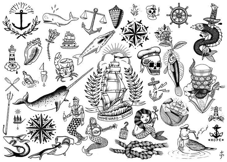 Traditional Black Tattoo on Clipart library.
