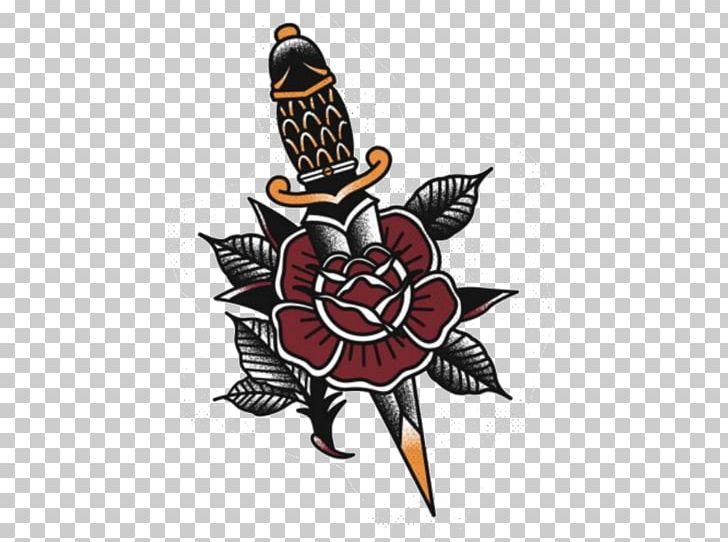 Flash Old School (tattoo) Dagger Tattoo Artist PNG, Clipart.