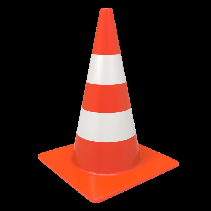 Traffic Cone transparent PNG.
