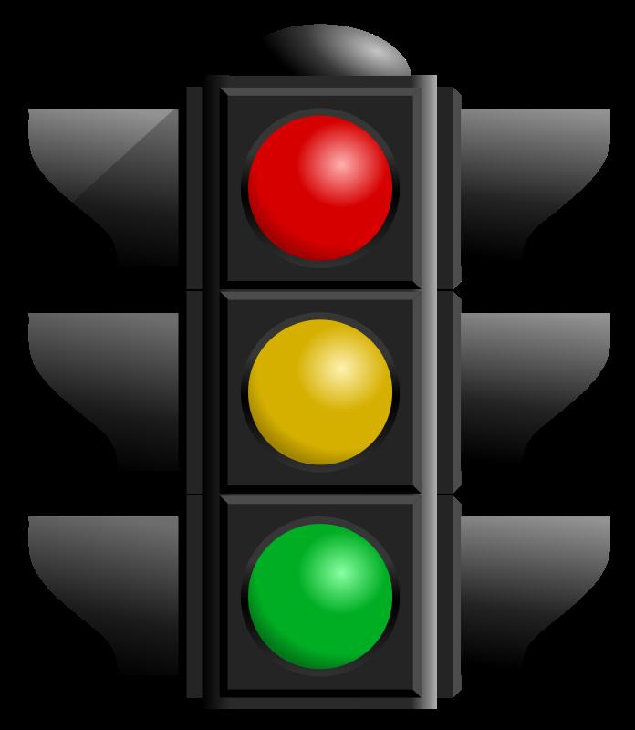 Free Clipart: Traffic light dan gerhar 01.