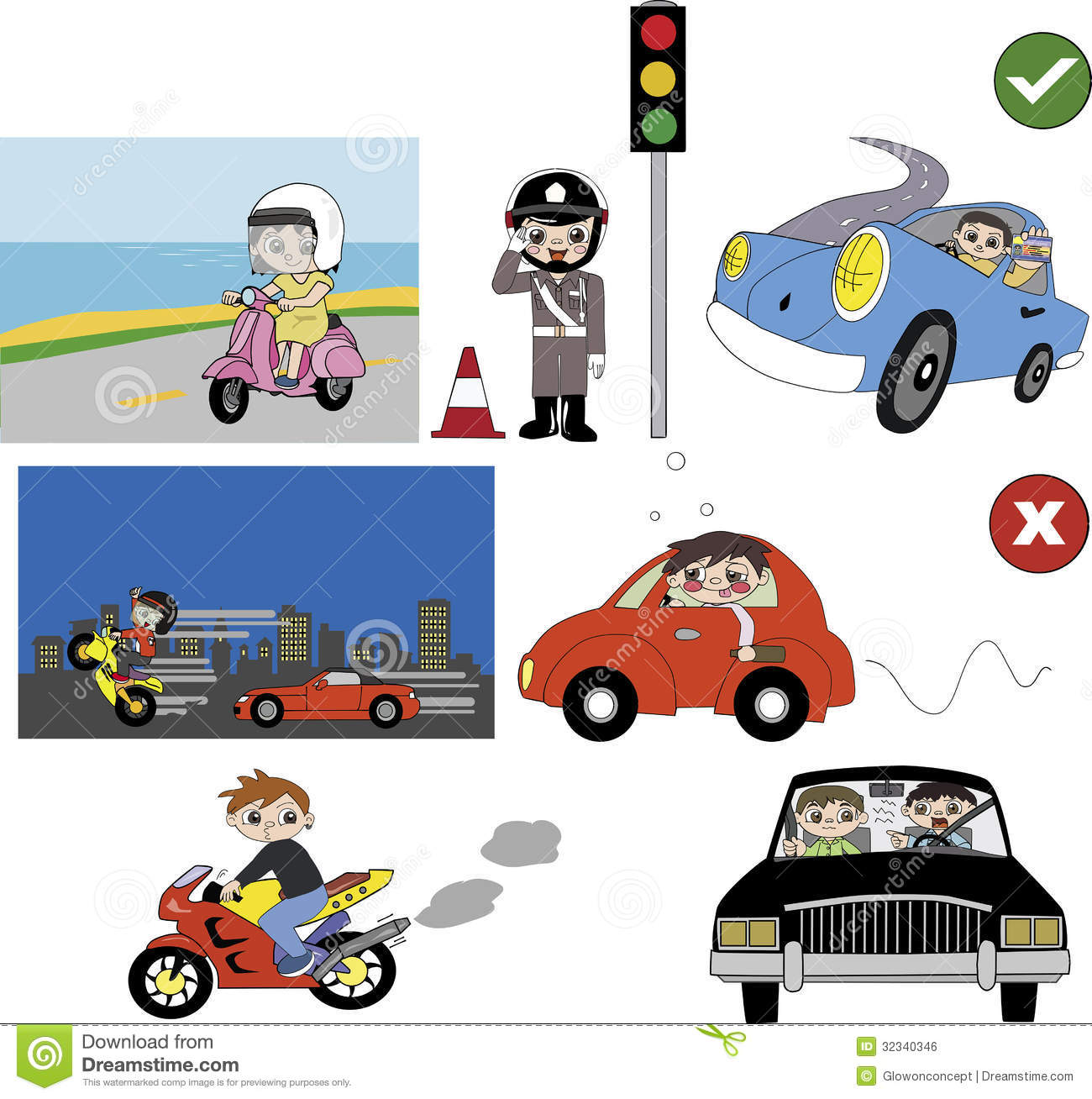 Following Traffic Rules Clipart.