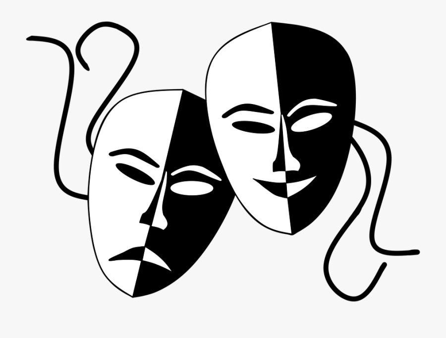 Comedy And Tragedy Masks Png , Free Transparent Clipart.