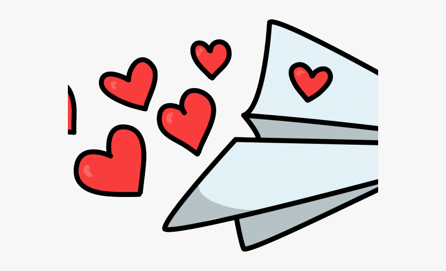 Heart Shaped Clipart Airplane Trail.