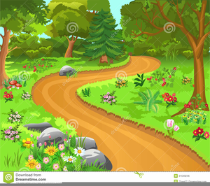 Dirt Trail Clipart.