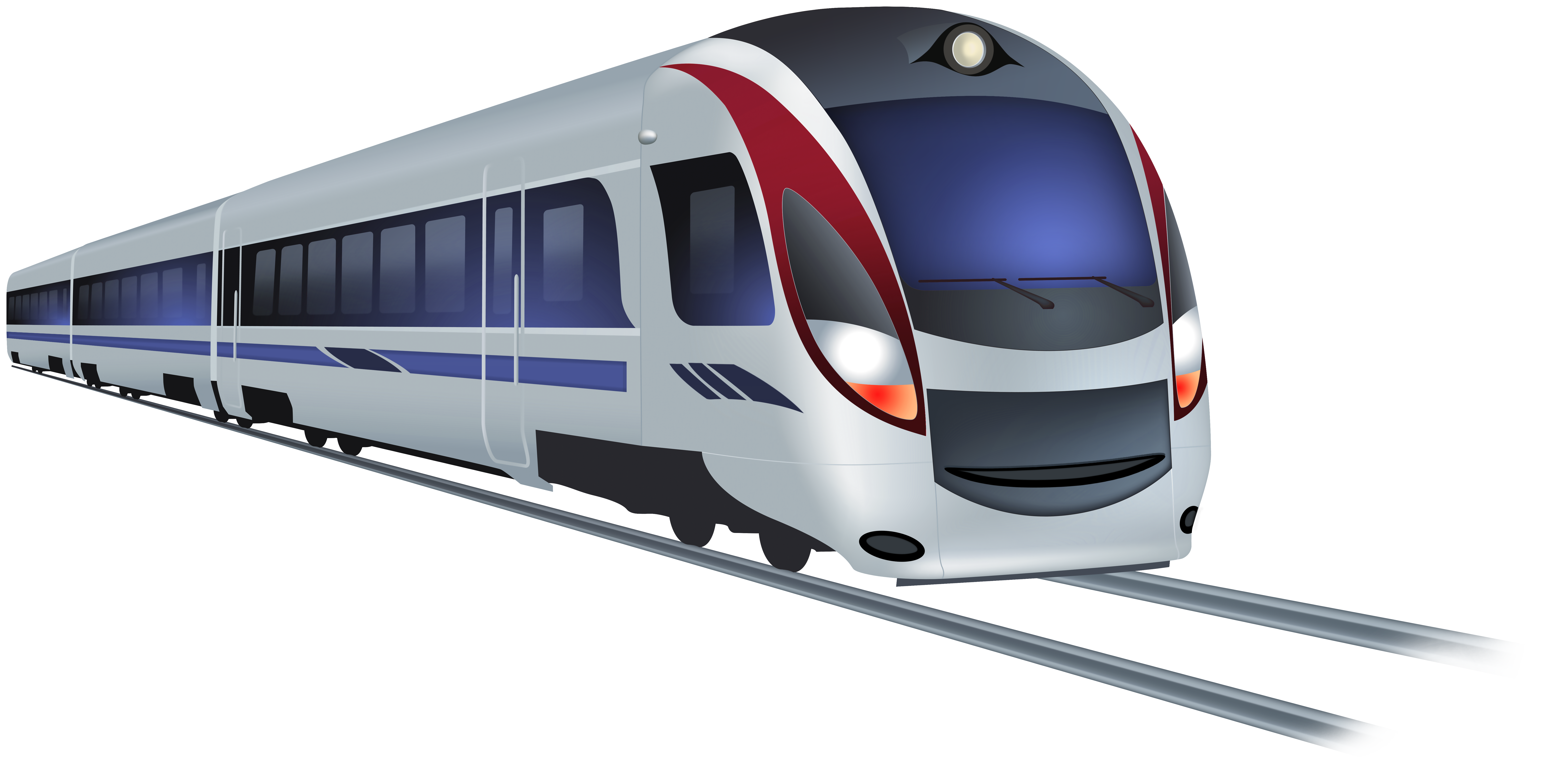 Modern Train PNG Clip Art.
