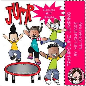 Trampoline Jumping clip art.