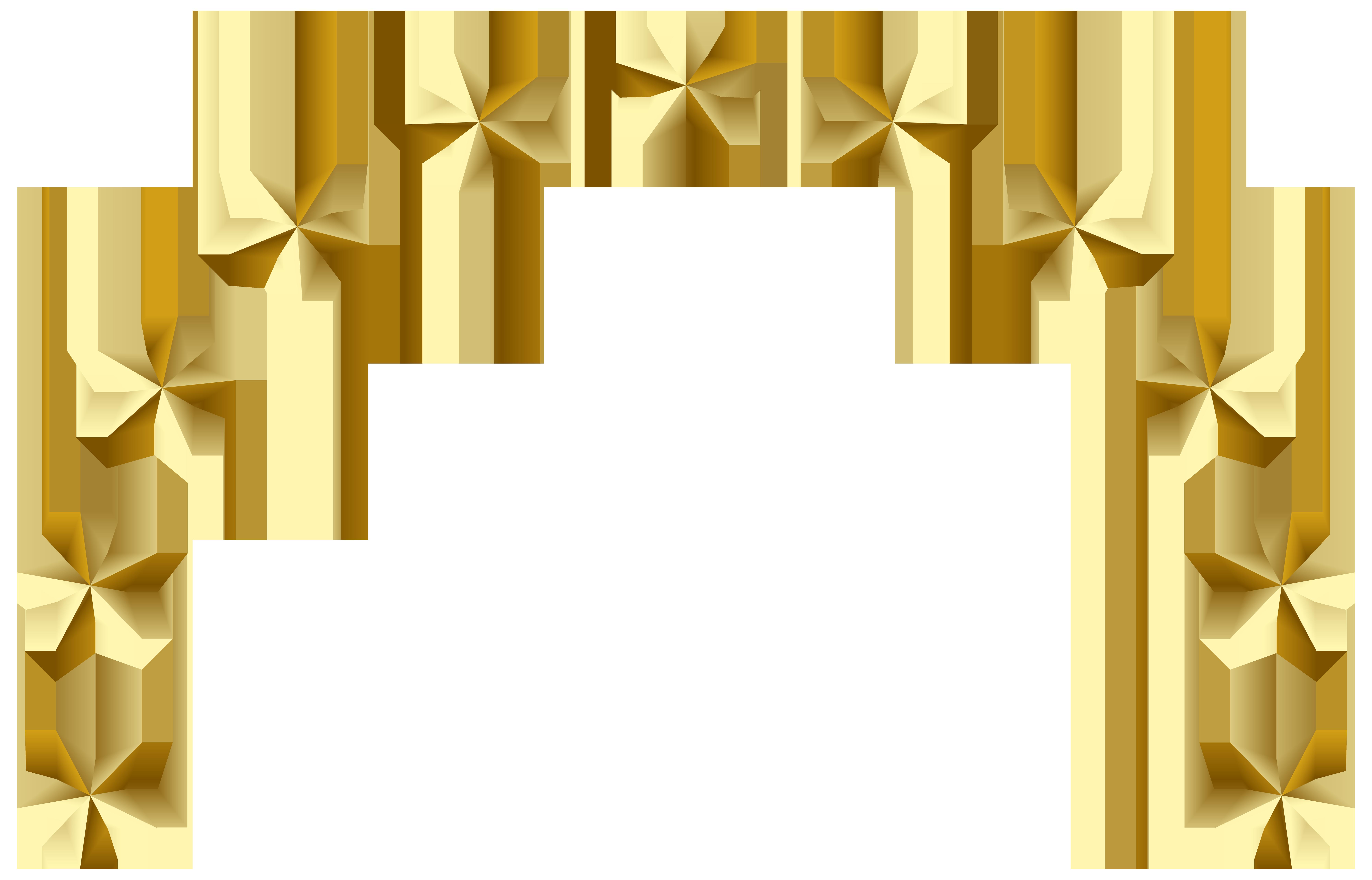 Star Decoration Transparent PNG Clip Art Image.