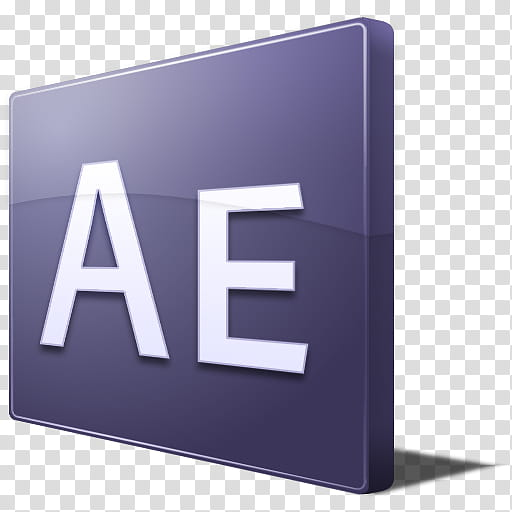 Adobe CS Icons, After Effects transparent background PNG.