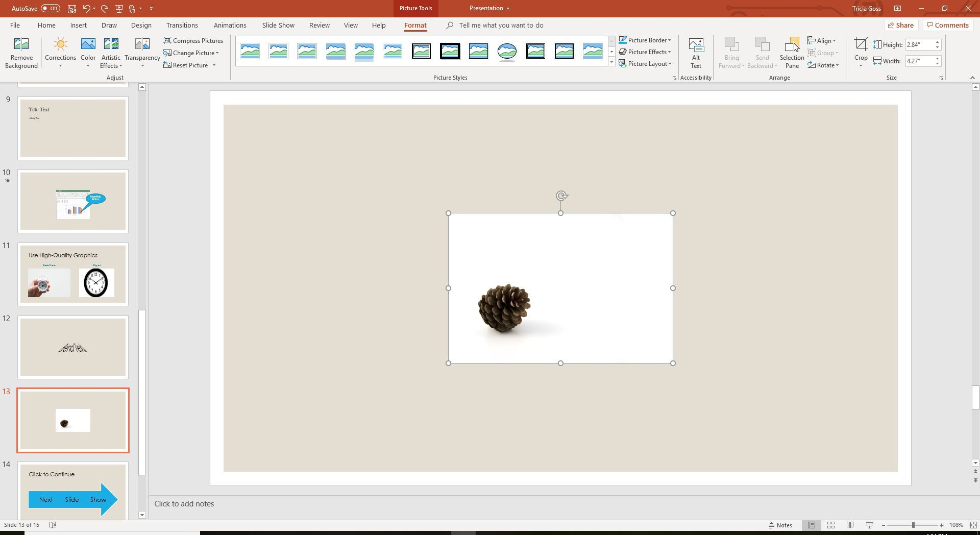 Make an Image Background Transparent in PowerPoint.