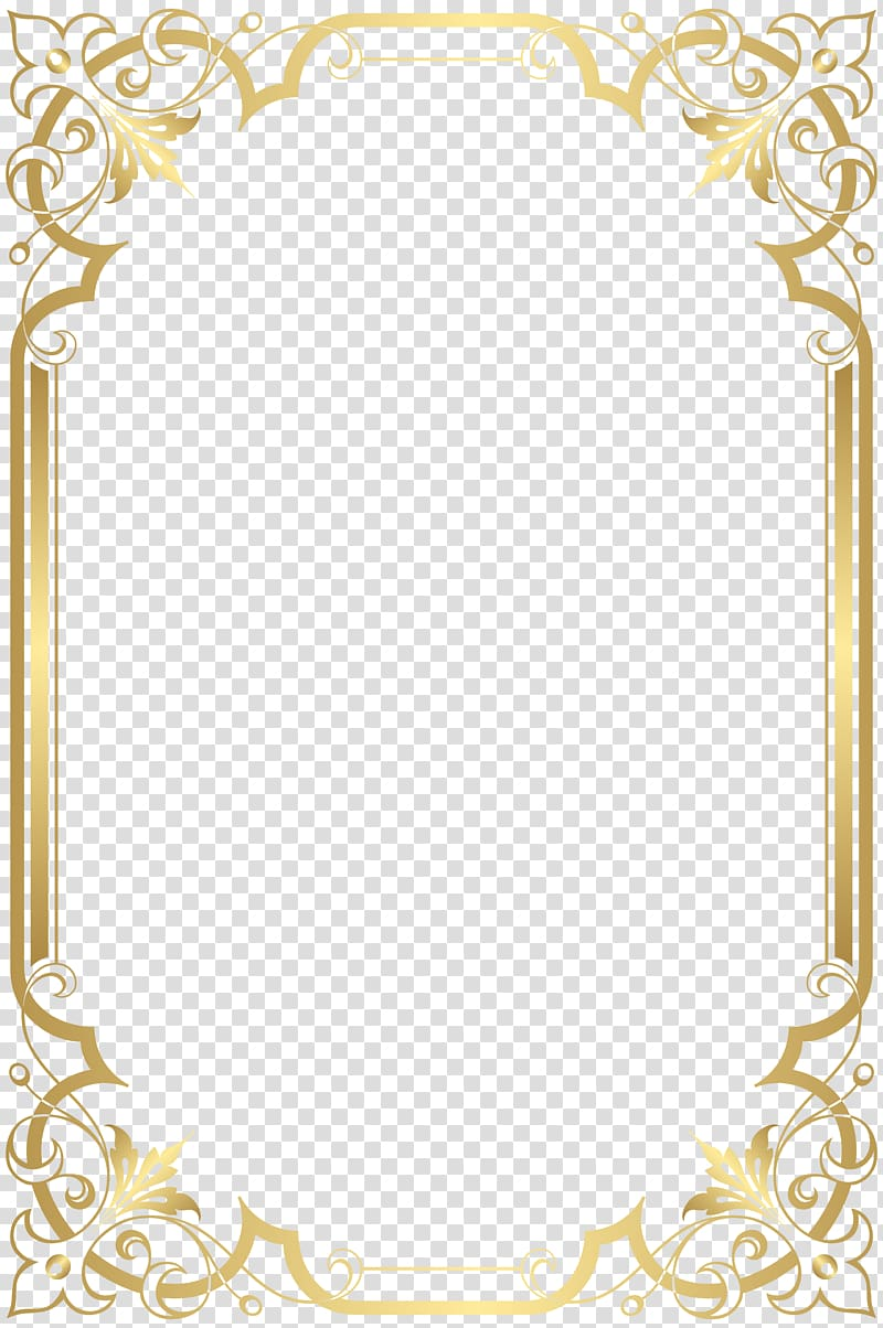 Paper graphic film, Border Frame , illustration of gold.
