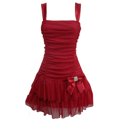 Dress Red Clipart transparent PNG.