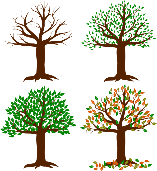 Free vector graphic: Seasons Of The Year, Spring, Summer.