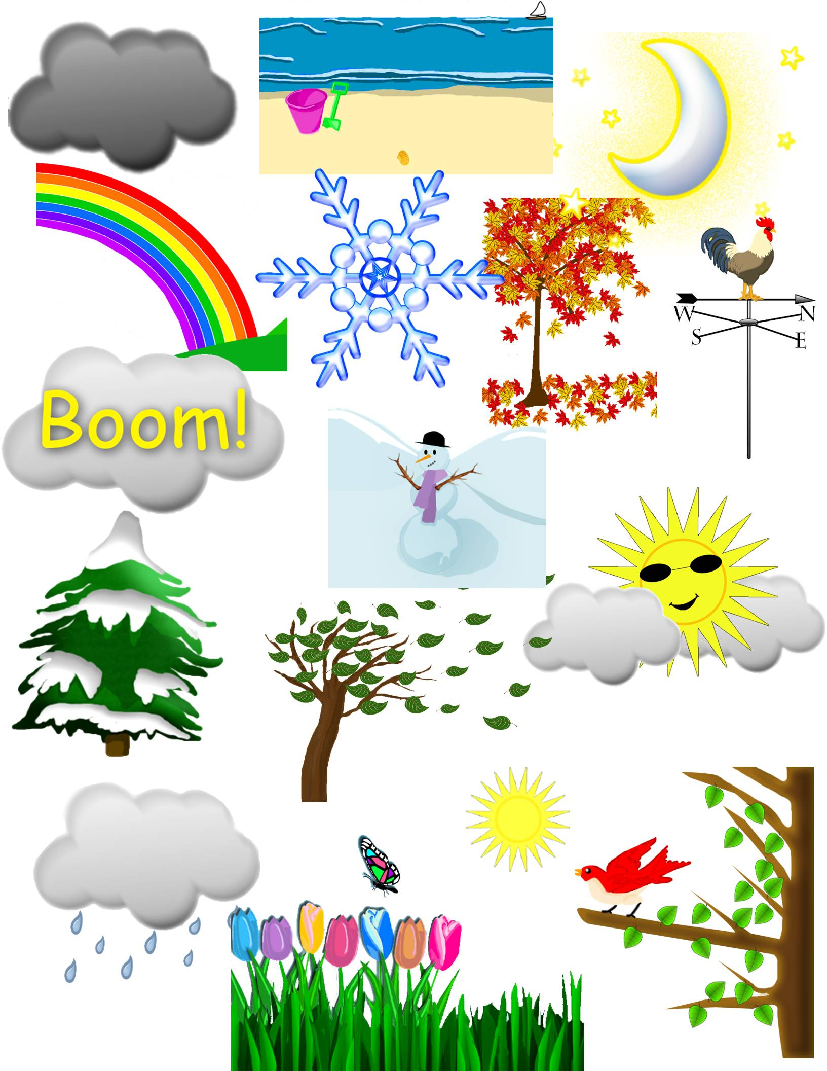 Weather and Seasons Clip Art.