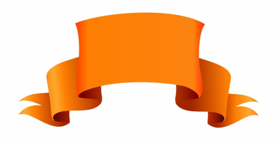 Orange Banner Png Transparent Images.