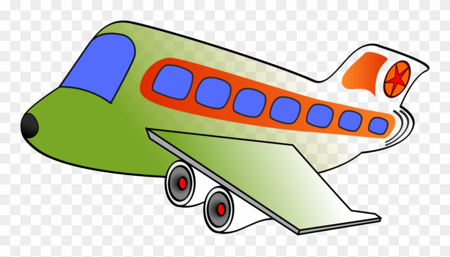 Airplane Air Transportation Clip Art.