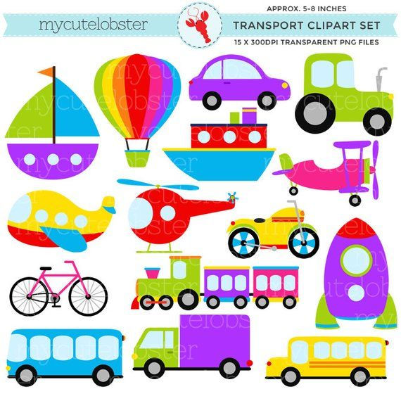 Transport Clipart Set.
