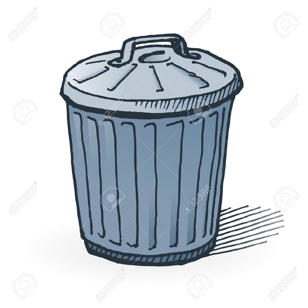 Trash Bin Drawing.