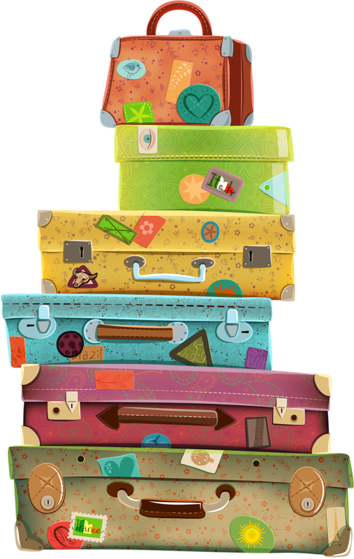 illustr.quenalbertini: Suitcases, clipart ….