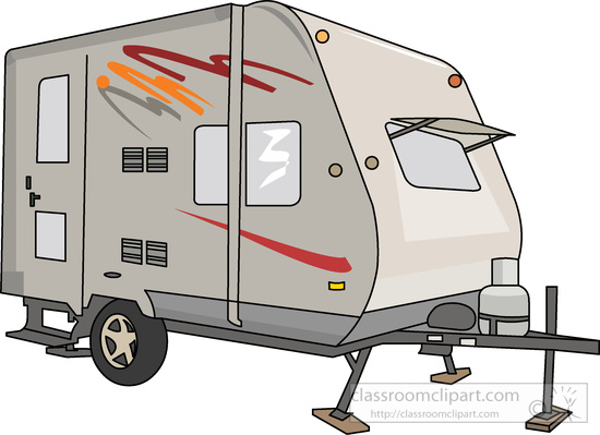 travel trailer clipart.