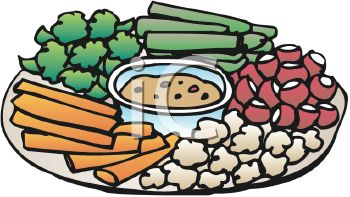 Appetizers clipart veggie tray, Appetizers veggie tray.