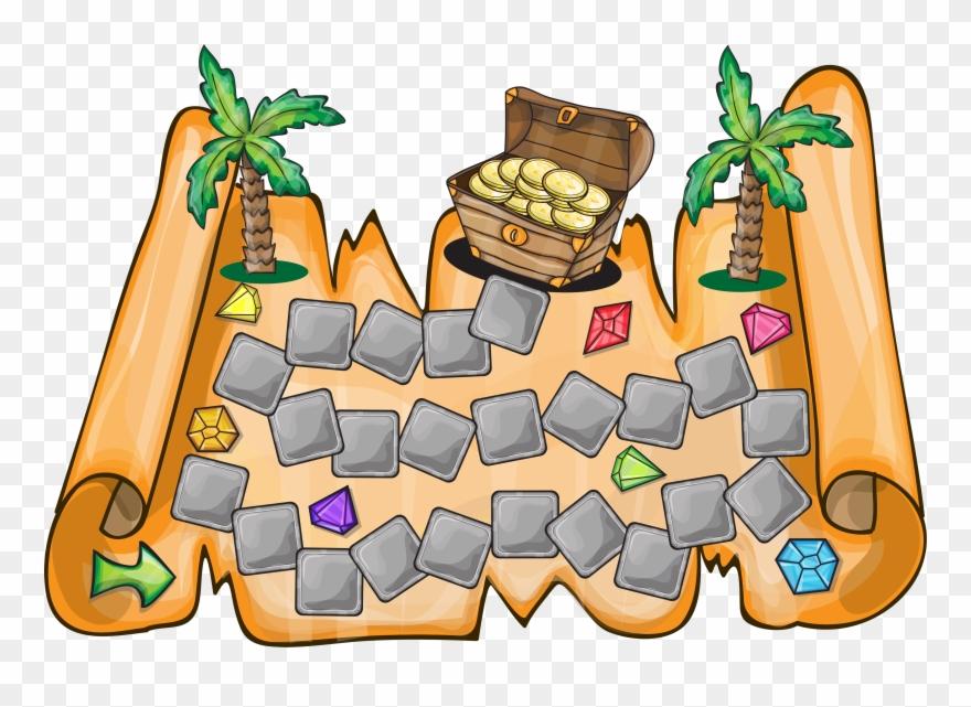 Clipart Map Treasure Hunt.