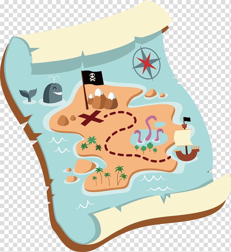 Treasure map illustration, Treasure map , Old treasure map.