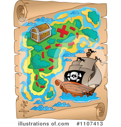 572 Treasure Map free clipart.