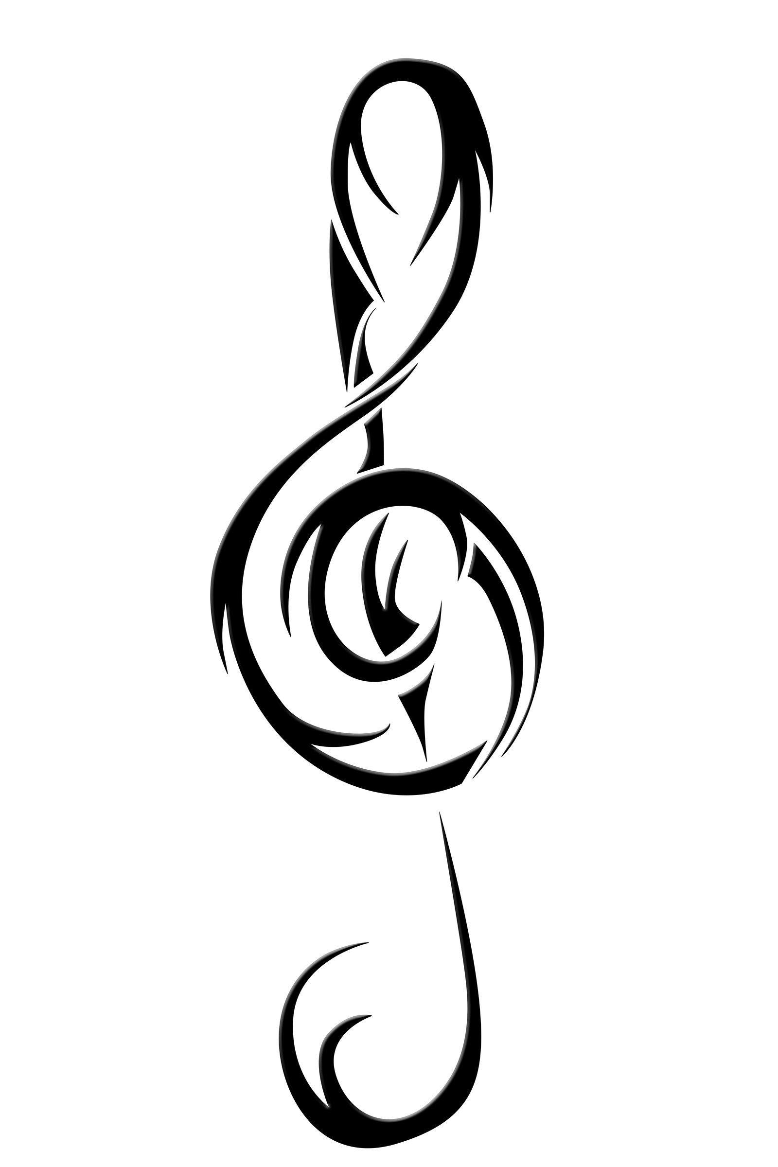 Treble Clef Vector Art.