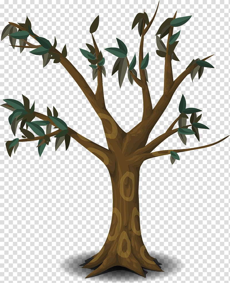 Tree Branch , cartoon tree transparent background PNG.