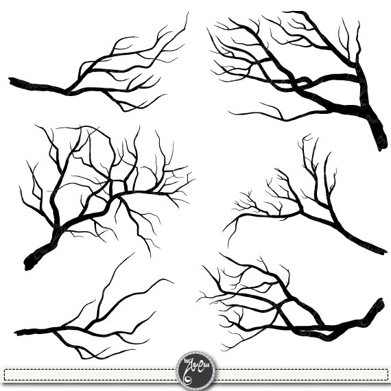 Branch Silhouettes Clipart\