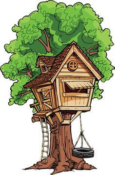 clipart tree house #13