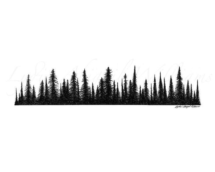 mountain treeline clipart.