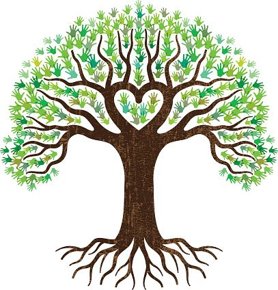 Tree heart roots clipart.