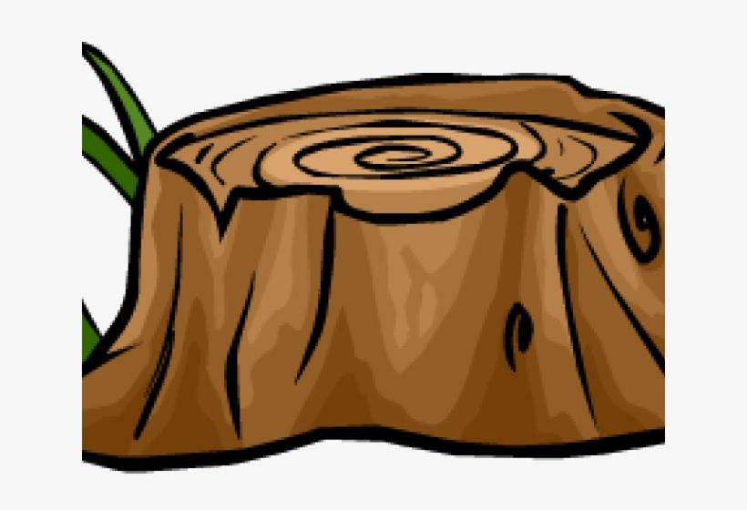 Cartoon Tree Stump.