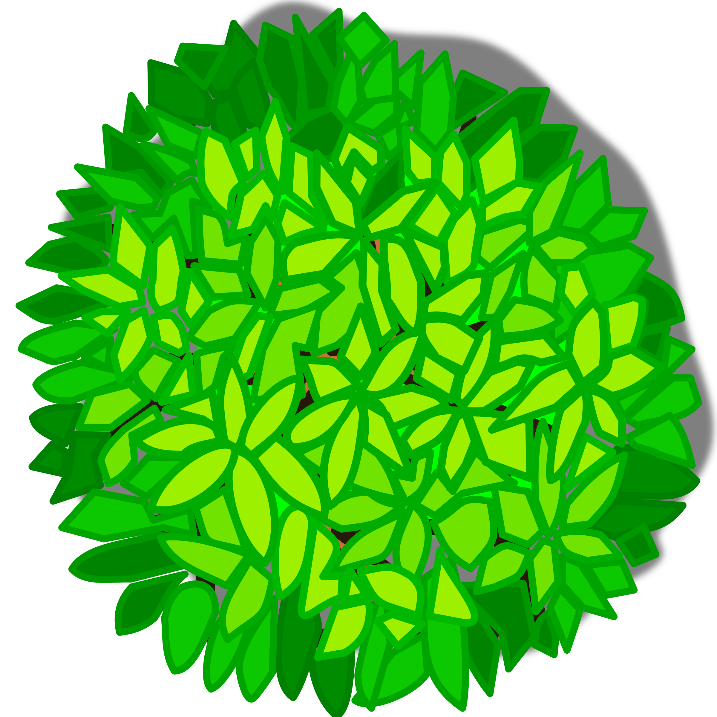 Tree Top View Clipart.