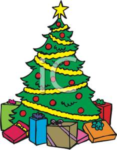 Christmas Presents Under Tree Clipart.