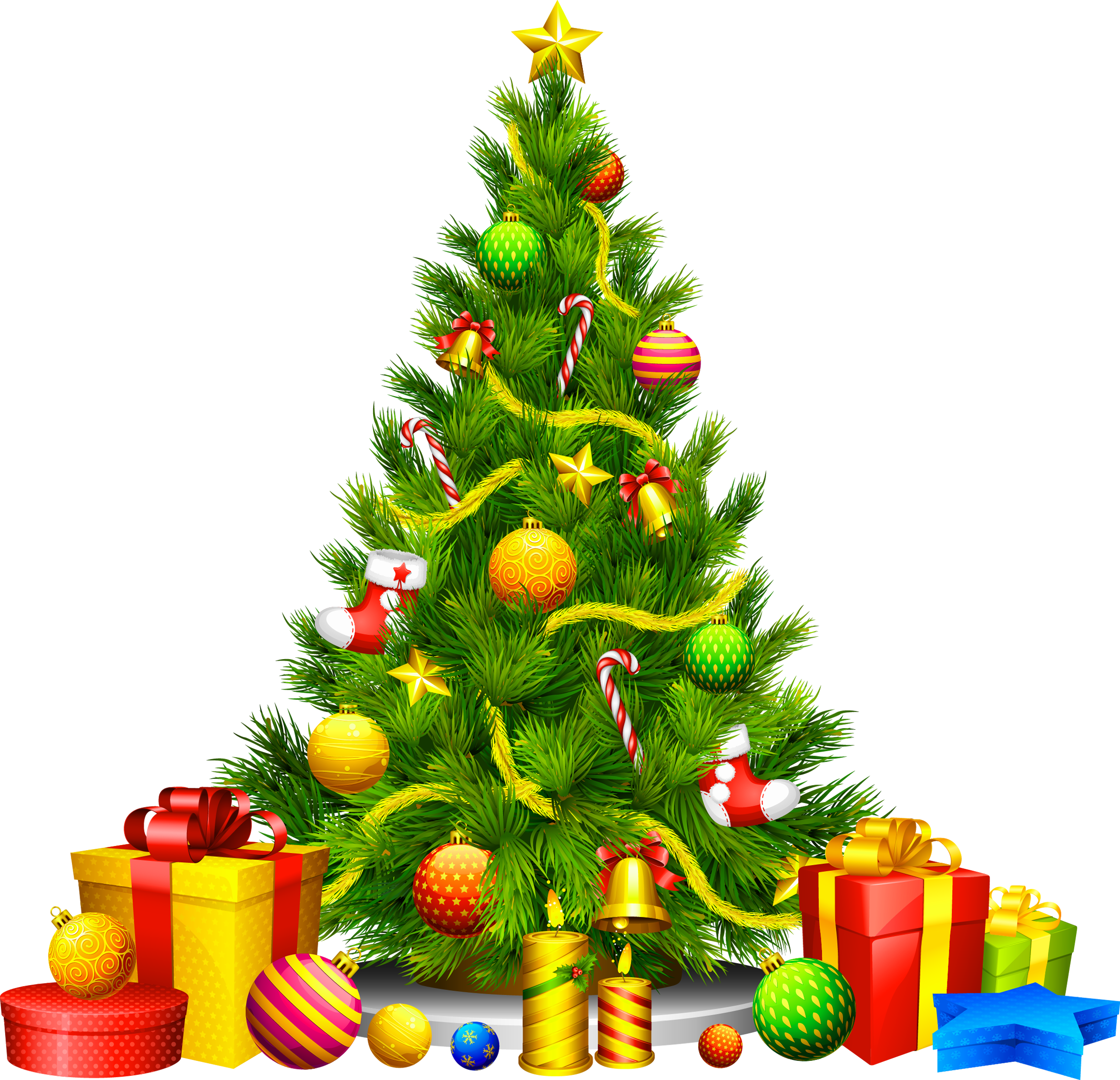 Christmas Tree With Presents Clipart & Christmas Tree With.