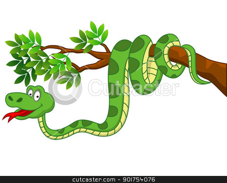 Similiar Cartoon Apple Tree With Snake Keywords.