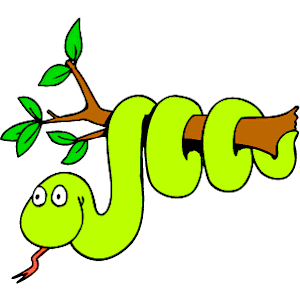 Snake On Branch Clipart.