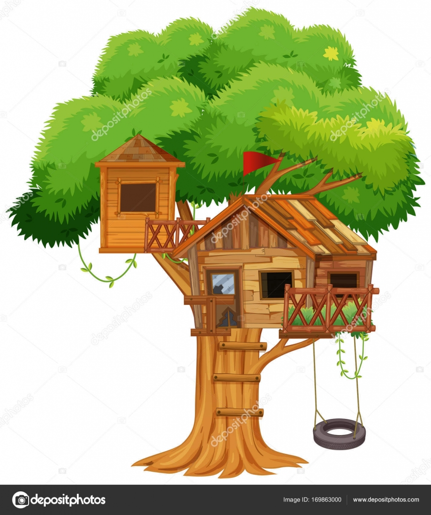 Clipart: treehouse.